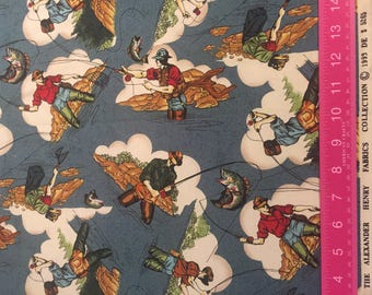 Alexander Henry Fly Fishing Fabric, 1999 FQ Very Rare