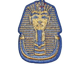 King Tut Tutankhamen Embroidered Iron on or sew on Patch/Applique Egyptian 2.75 tall