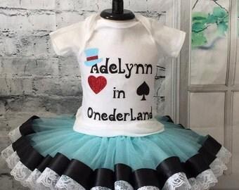 Onederland birthday outfit, Onederland tutu, Wonderland birthday outfit, Wonderland tutu, Onederland outfit, Alice in Wonderland outfit