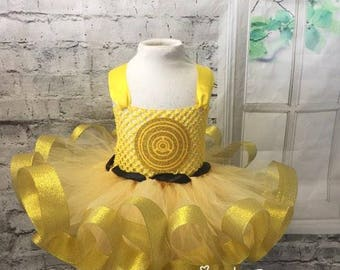 cp3o tutu dress, cp3o tutu, cp3o costume, Star Wars Wedding ,cp3o Comic Con, cp3o dress, cp3o halloween costume, cp3o flowergirl dress