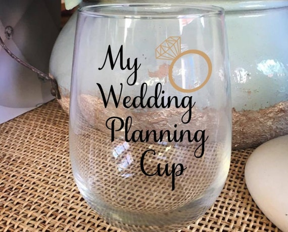 Gifts For Wedding Planning: My Wedding Planning Cup Engagement Gift Bride Cup Gift For