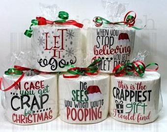 Toilet paper Gag Gift,  Secret Santa,  White Elephant Christmas Gift, Stocking Stuffer,  Christmas in July