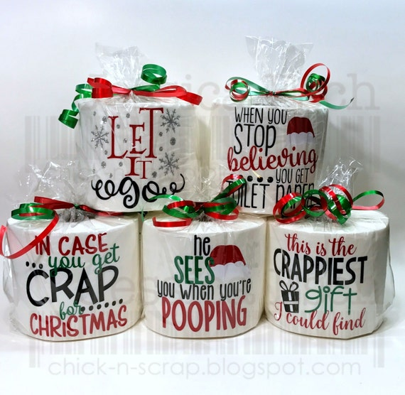 Toilet paper gag gift secret santa white elephant for Fun secret santa gifts