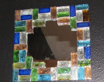 Mosaic mirror, multi color