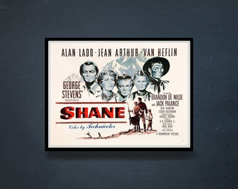 Reprint of the vintage movie poster - Shane