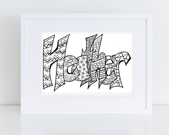 color your name heather printable coloring pages for kids and adults use for