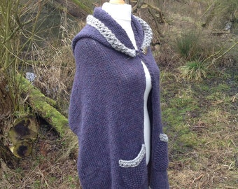 Knitted Hooded Shawl.....