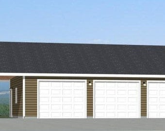 Items similar to 16x20 house w loft pdf floor plans for 40x36 garage