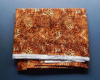 "44"" x 95"" Robert Kaufman Co. EJ-153 Animal Print Cheetah/Leopard Fabric Material"