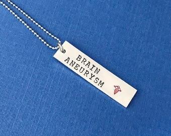 Allergy or MEDICAL ALERT necklace  - custom made to your alert  - Hand stamped- Allergy  - medication - medical problem