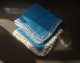 Washcloth with lace (2)