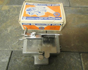 Little Gem automatic Film Splicer , 8mm & 16mm silent or sound film, ** Mansfield film splicer, movie