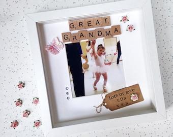 great grandma frame personalised scrabble photo frame for nana nanny granny - Nana Frame