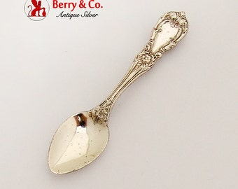 Burgundy Salt Spoon Pin Reed Barton Sterling Silver 1950