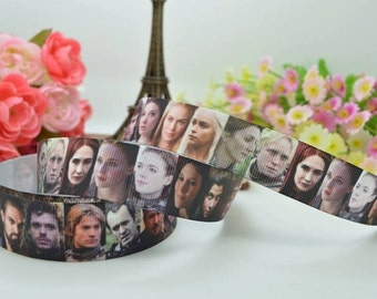 Game of Thrones, Jon Snow, Wolf , Khal Drogo, Grosgrain ribbon