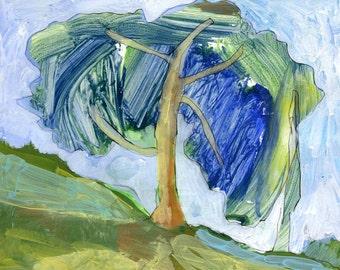 LONE PINE TREE - Contemporary Art - Fine Art Painting - Acrylic Painting - ElizabethAFox
