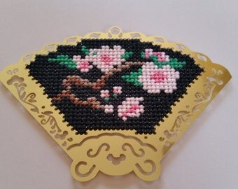 Brass Fan Cross Stitch