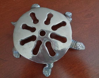 Silver-Plated Turtle Trivet