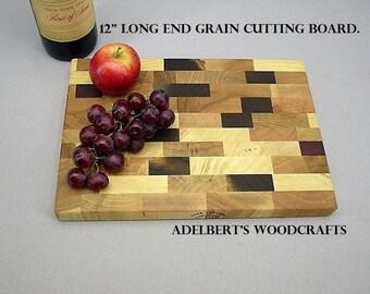 "12"" x 8.5"" x 1 "" wood cutting board  Made in America."