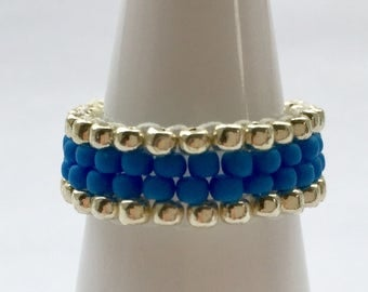 Beaded stackable ring accessory