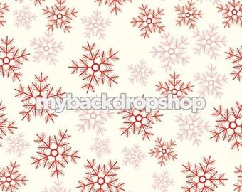2ft x 2ft Snowflakes Photography Backdrop – Christmas Photo Background  – Item 1781