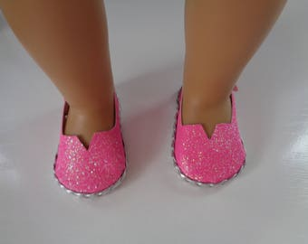 """Pink Sparkle Princess 18"""" Doll Sandals-Shown on my american girl doll"""