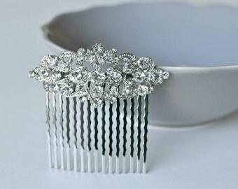 crystal hair comb, Vintage Inspired bridal hair comb, Swarovski hair comb,wedding hair comb,bridal hair accessories,wedding hair, HC009