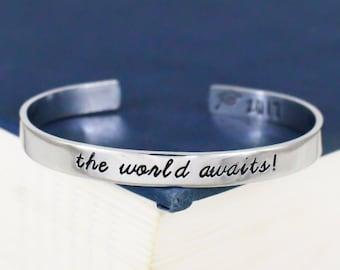 The World Awaits! Bracelet - Graduation Gift - Class of 2017