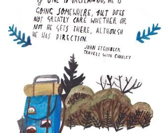 Vacilando (John Steinbeck) Postcard