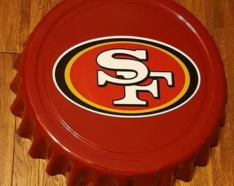 "San Francisco 49ers California NFL Football Giant 16"" Bottle Cap Wall Hanging"