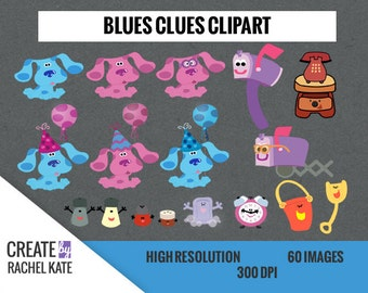 Deluxe Blues Clues Clipart Set for Digital Scrapbook Paper Pack