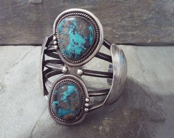 Navajo Turquoise Bracelet - Old Pawn Native American Jewelry
