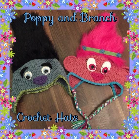 Trolls Knitting Or Crocheting Patterns : Poppy branch troll crochet hat winter