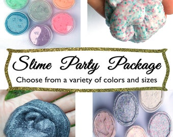 Slime Party Favor Package Bundle Pack Party Choose Colors Lot Silly Putty Glitter Therapy Sensory  birthday gift unicorn slime toy custom