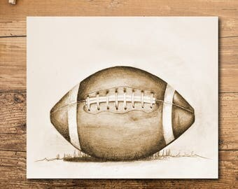 Football Art - Football Decor - Football Artwork