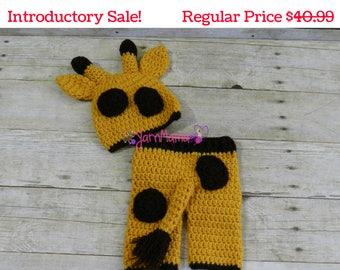 Giraffe Hat - Giraffe Set - Baby Giraffe Set - Photo Prop - Photography Prop - Baby Giraffe Hat - Newborn Giraffe Hat - Newborn Giraffe Set