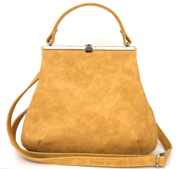 "leather bag, ""SAFRAN"",yellow,kaa berlin"