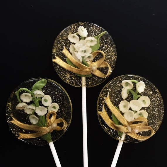 3 Lily of the Valley Lollipops