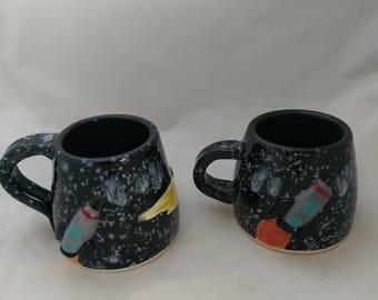 Handmade Space Odyssey ceramic mugs
