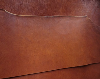 3.6mm thick vintage look cowhide leather saddle tan ideal for Leather Craft Projects