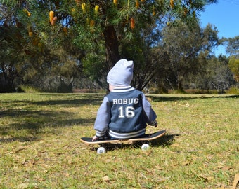 Personalised Baby Varsity Jacket - choose your colour