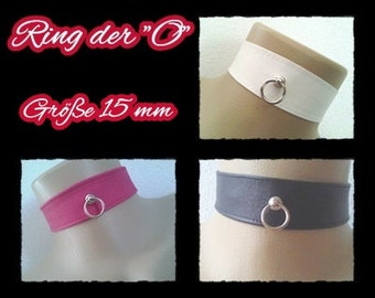 O *-leather collar 4-29 12/15 mm ring