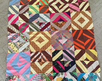 Vintage quilt top, hand pieced