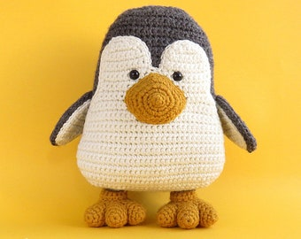 Amigurumi Penguin - Crochet Penguin / Stuffed Penguin - Penguin Plush / Mr PENGUIN / Grey. Ready to ship.