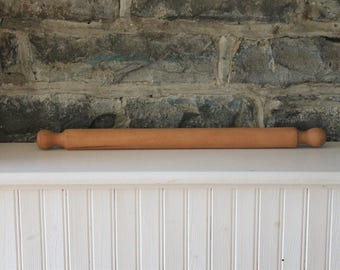 Vintage Large Rolling Pin - Handmade  - Country - Farmhouse - Rustic Decor - Wood - Wooden Tapered Solid Maple