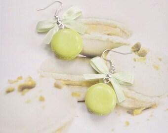 earrings pistachio macarons polymer clay