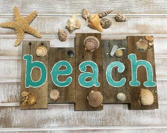 Beach signs, beach decor, pallet sign, pallet wall art, wooden beach signs, reclaimed wood signs, ocean decor, wooden signs