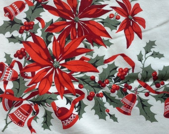 Vintage Christmas Tablecloth.