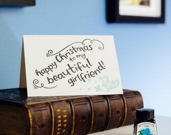 Happy Christmas To My Amazing Girlfriend Letterpress Card