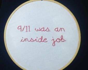Nine Eleven hand embroidery